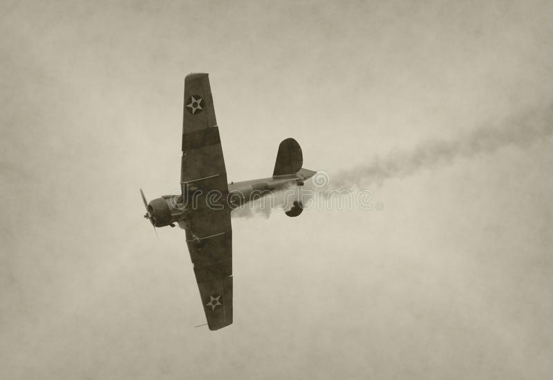 myśliwski stary samolot zdjęcie stock