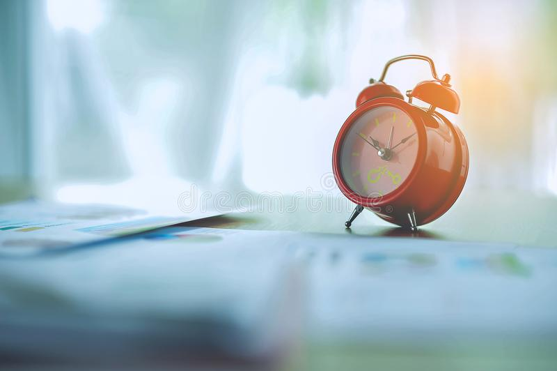 My alarm clock in the morning stock photo