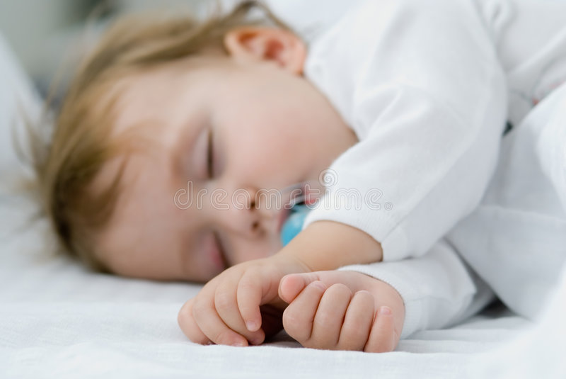 My baby sleep stock photography