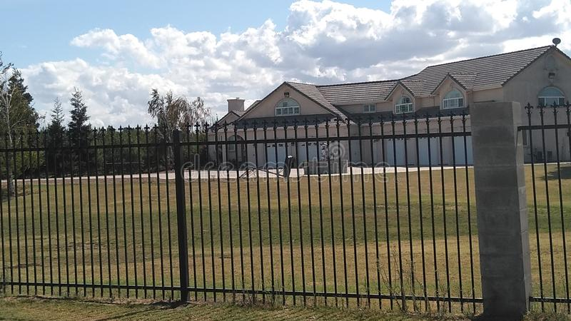 My 6 bedroom 5 car garage mansion 3 acres of land I& x27;m in love it has to be a mine royalty free stock photo