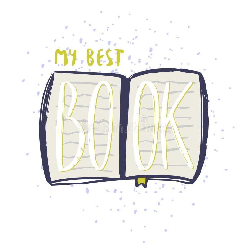 My best book icon. Typographic vector design. Books blog icon. My best book icon. Typographic vector design. Books icon vector illustration