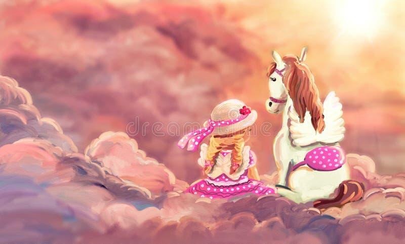 My best friend - pegasus royalty free illustration