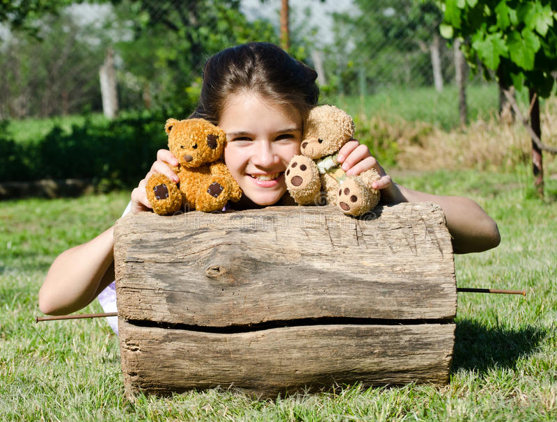 Download My best friends stock photo. Image of fabric, girl, bear - 24938658