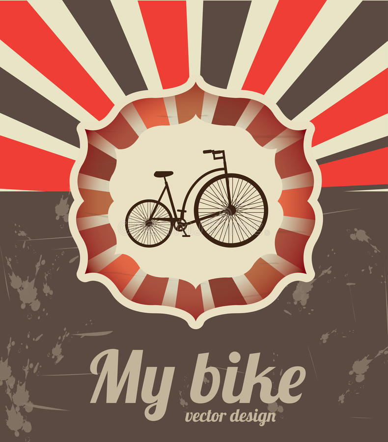 Download My bike stock vector. Illustration of drawing, design - 31939740