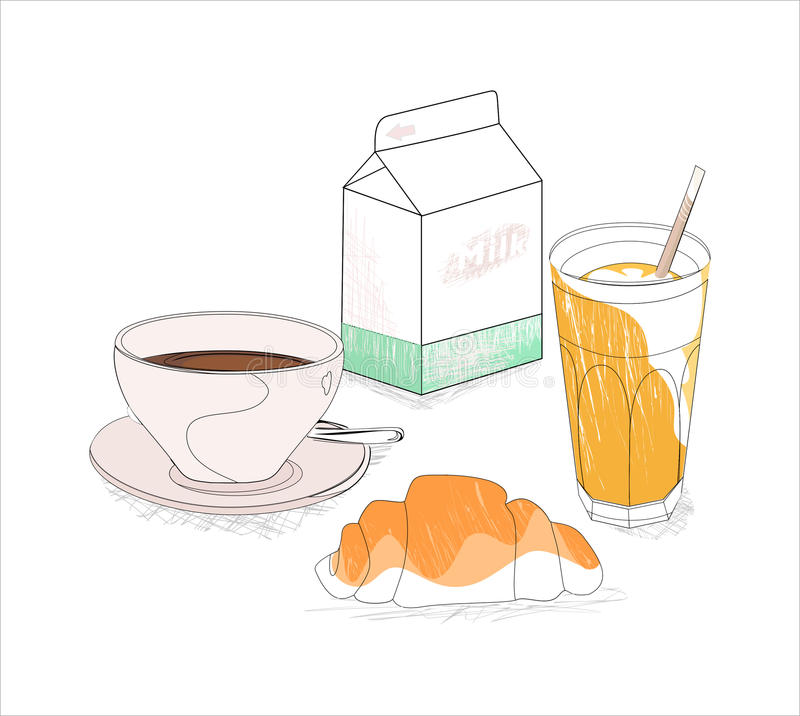 Download My breakfast stock illustration. Image of juice, card - 21524211