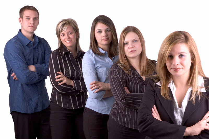 My Business Team. Young Business Women & Her Team royalty free stock photo