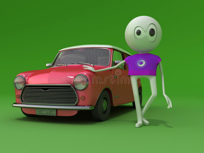 Download My car stock illustration. Image of character, illustration - 11132607