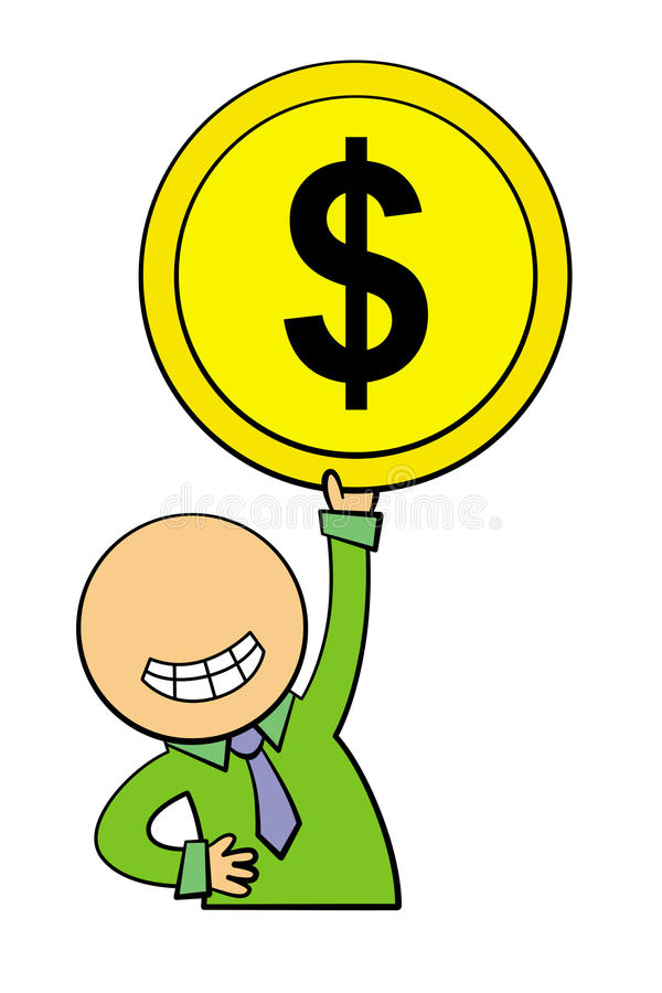 Download My coin stock illustration. Illustration of happiness - 25798593