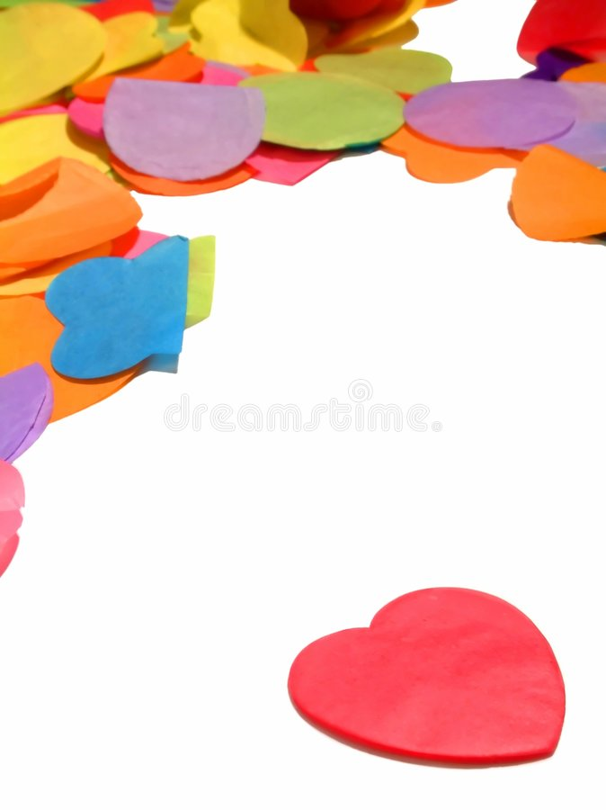 My confetti heart only beats for you royalty free stock photo