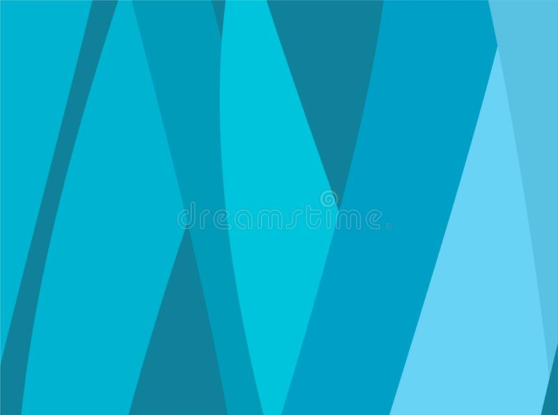 The Amazing of Colorful Art Blue, Abstract Modern Shape Background or Wallpaper stock illustration