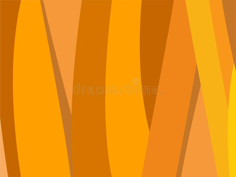 The Amazing of Colorful Art Orange and Yellow, Abstract Modern Shape Background or Wallpaper stock illustration
