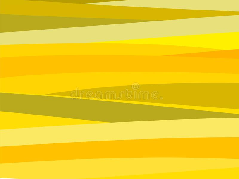The Amazing of Colorful Art Yellow, Abstract Modern Shape Background or Wallpaper royalty free illustration