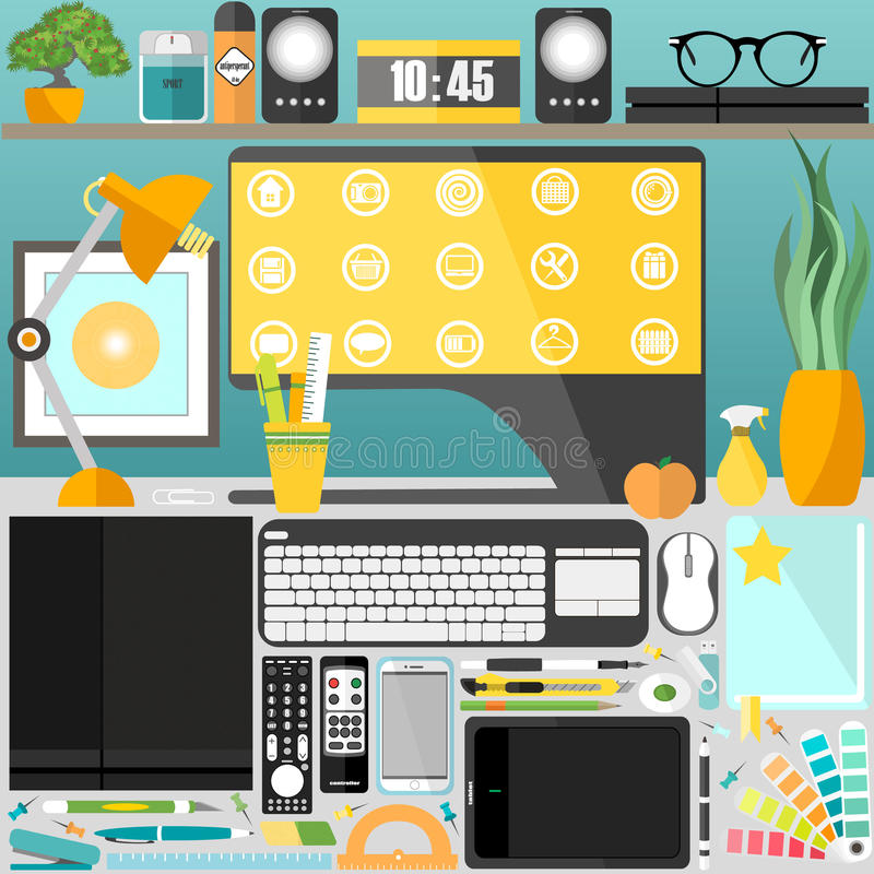 My desktop, business, office royalty free stock photography