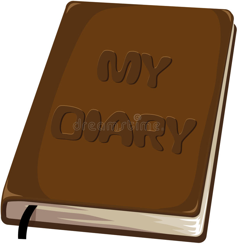 My diary notebook royalty free illustration