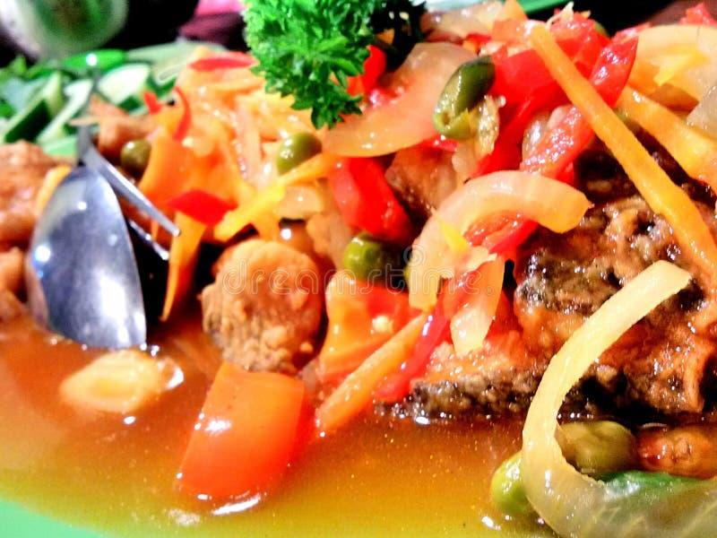 My dinner. Nila asam manis fresh stock photography