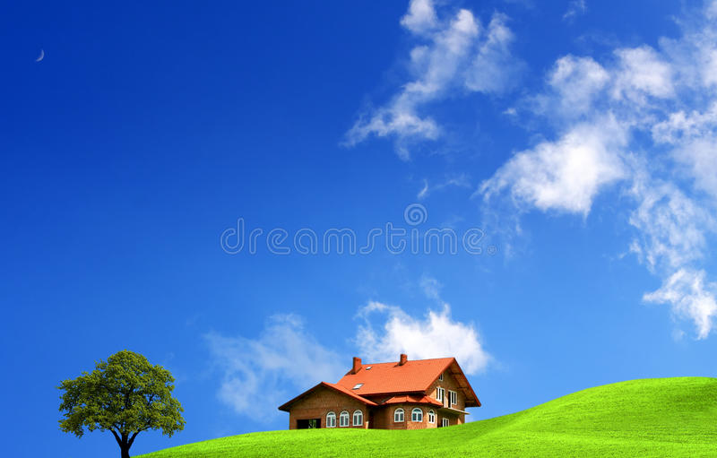 My dream house stock image