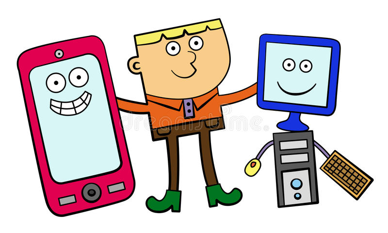 Download My electronic friends stock illustration. Illustration of equipment - 26086550