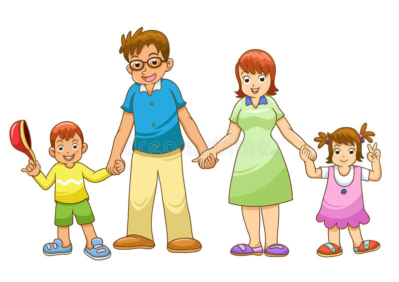 Download My family holding hand stock vector. Image of people - 32047780