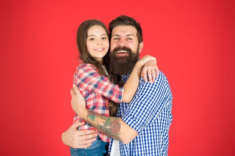 My family is my inspiration. father and daughter embrace. little child love her dad. fathers day. childrens day. Family stock images