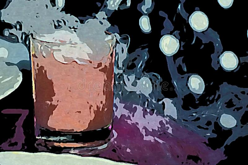 My Fantasy about Cold Drinks stock illustration