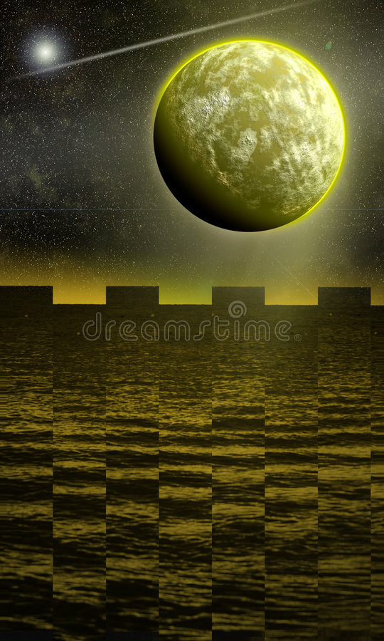My fantasy planet. stock images