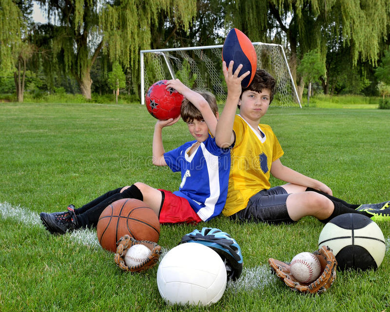 Football Wallpaper Soccer Ball Sport Goal Kids Boys: My Favorite Sport Royalty Free Stock Image