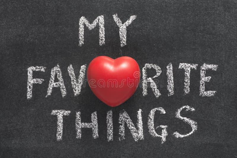 My favorite things heart stock photo