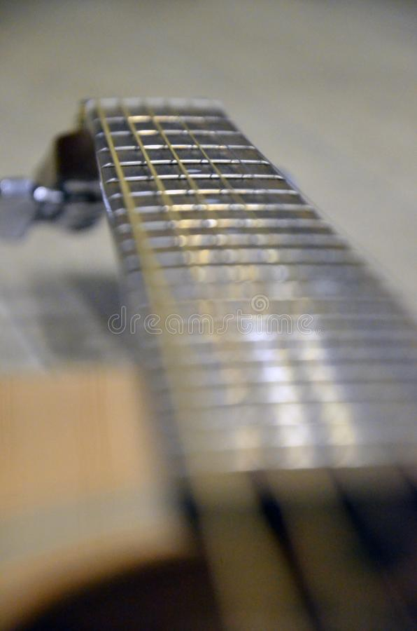 My favourite yellow accoustic guitar. This is my favourite accoustic yamaha guitar stock photography