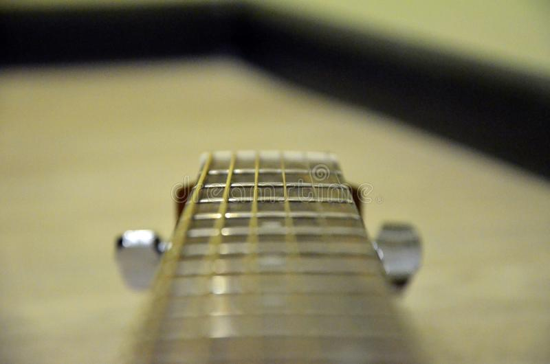 My favourite yellow accoustic guitar. This is my favourite accoustic yamaha guitar stock image