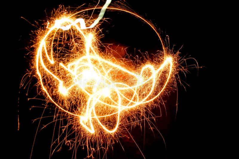 My fireworks royalty free stock photography