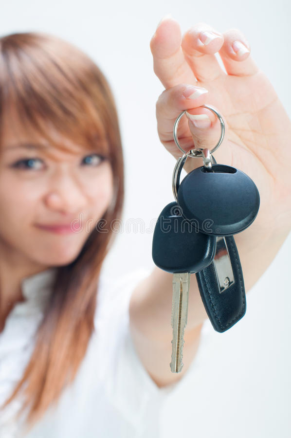 Download My first car stock photo. Image of female, owner, closeup - 26751066