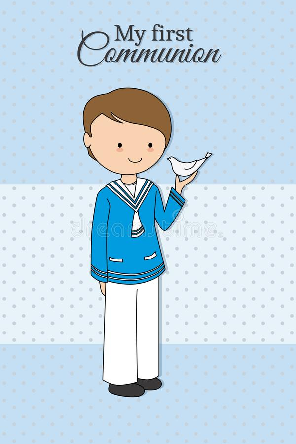 My first communion boy stock illustration