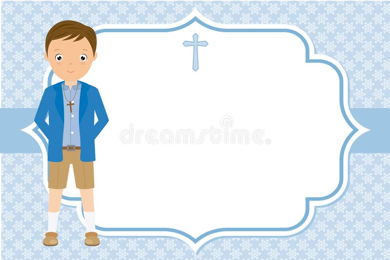 My first communion boy royalty free illustration