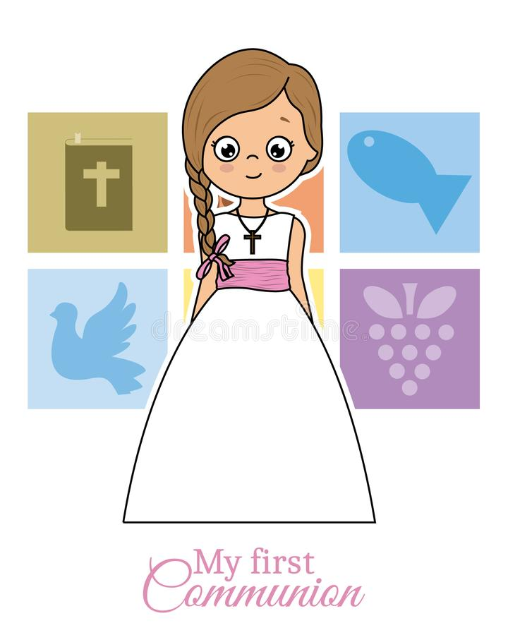 My first communion card royalty free illustration