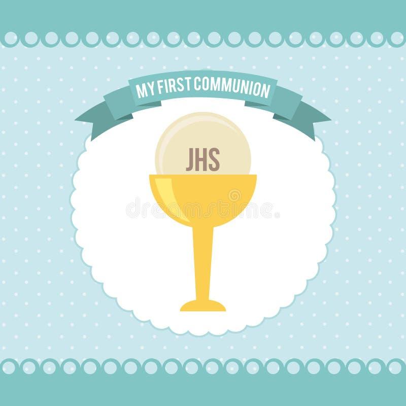 My first communion vector illustration
