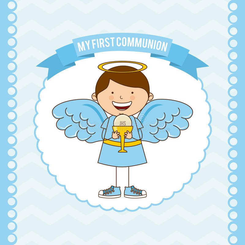 My first communion royalty free illustration