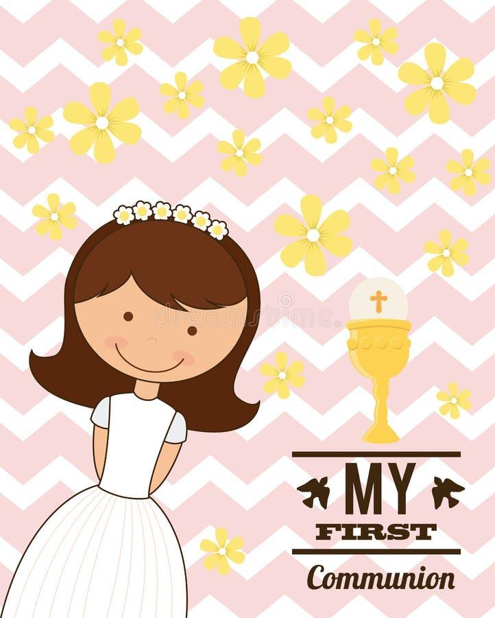 My first communion. Design, illustration eps10 graphic stock illustration