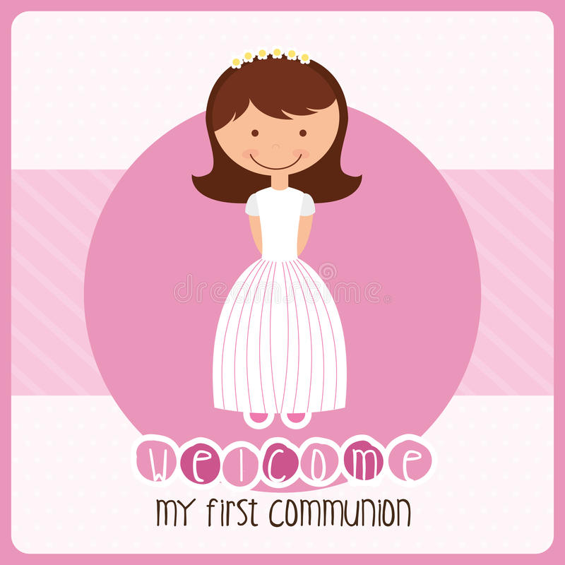 My first communion. Design, vector illustration eps10 graphic vector illustration