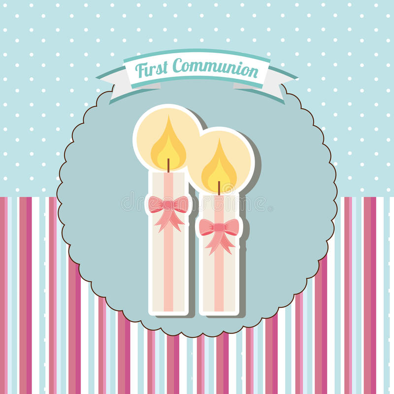 My first communion. Design, vector illustration eps10 graphic royalty free illustration