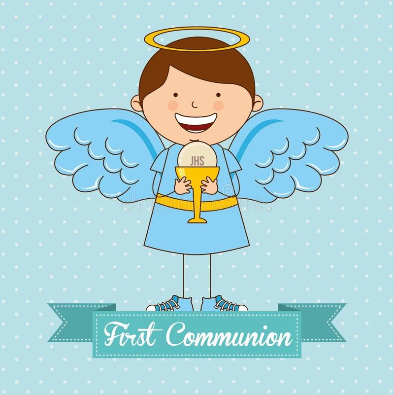 My first communion stock illustration