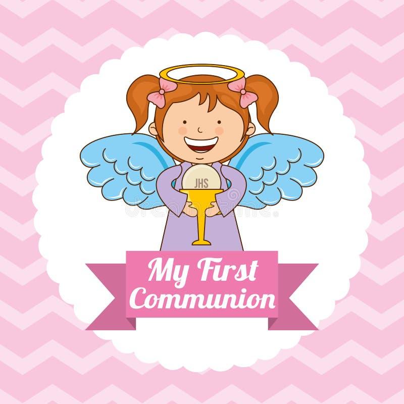 My first communion. Design, vector illustration eps10 graphic stock illustration