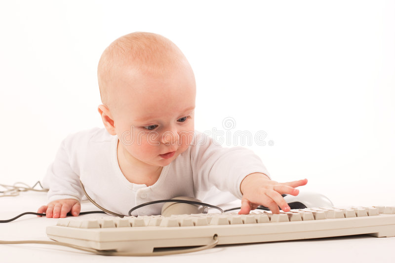 My first computer royalty free stock photos