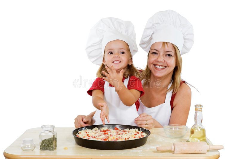 My first pizza is ready royalty free stock images