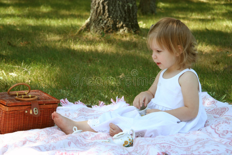 My First Tea Party royalty free stock photo