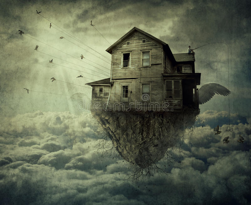 My Flying House stock photography