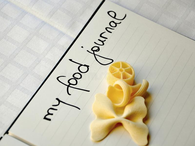 My Food Journal Concept Royalty Free Stock Photos