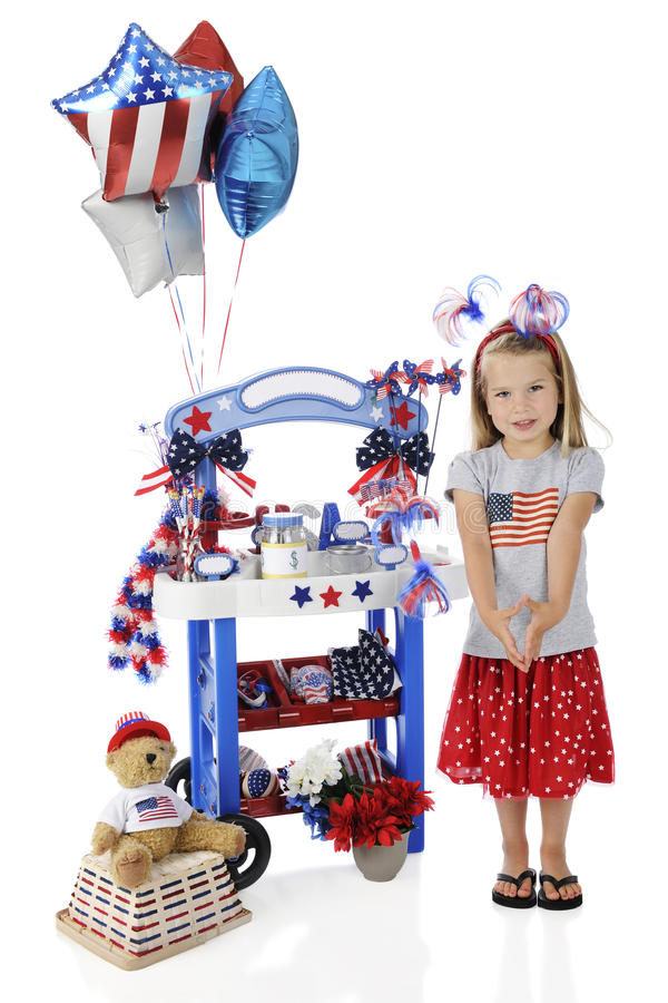 Download My Fourth of July Stand stock image. Image of trinkets - 25250153