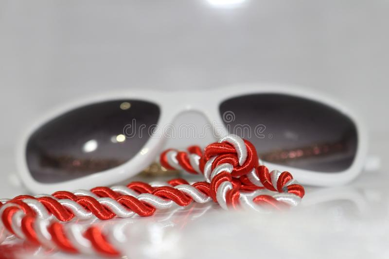 Blur Glass White Background christmas stock images