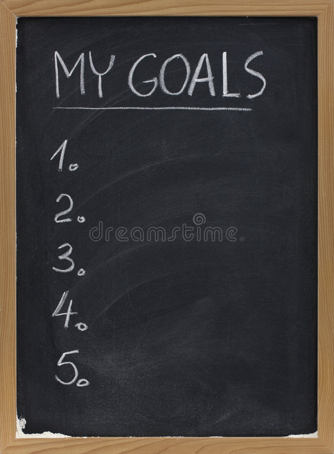 Free My Goals List On Blackboard Stock Images - 9094454