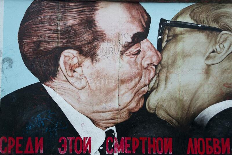 My God, Help Me to Survive This Deadly Love graffiti on Berlin W stock images